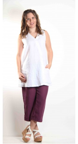 Cut Loose Clothing One Pocket Tunic White