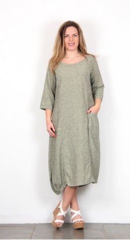 Cut Loose Clothing Asymetric Pocket Dress Aphid