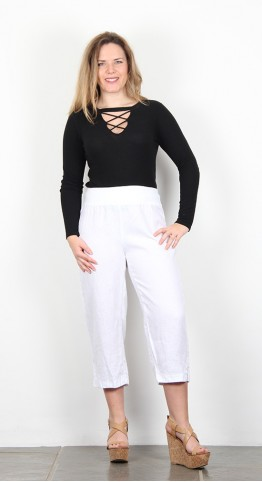 Cut Loose Clothing Capri Pants White