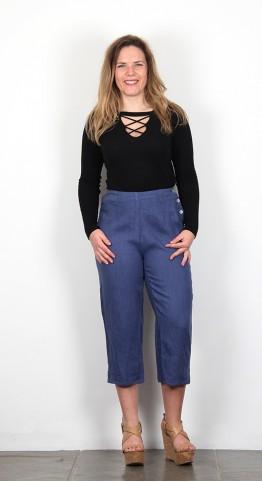 Cut Loose Clothing Capri Pants Space Blue