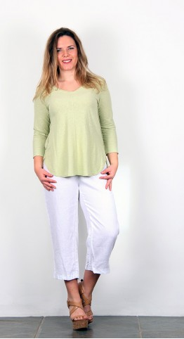 Cut Loose V-Neck Jersey Top Aphid