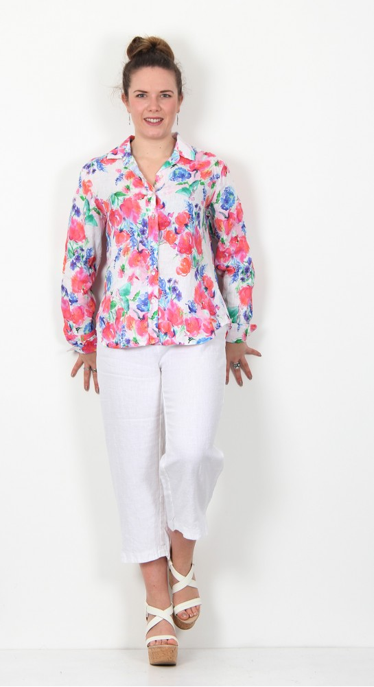Cut Loose Clothing Flower Print Shirt Laundered
