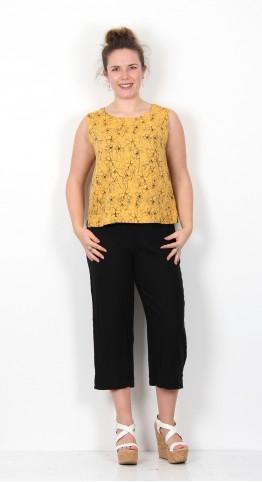 Cut Loose Clothing Linen Shell Drawn Flower Marigold