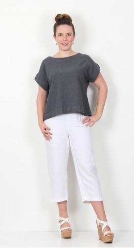 Cut Loose Clothing Short Sleeve Crop Top Iron