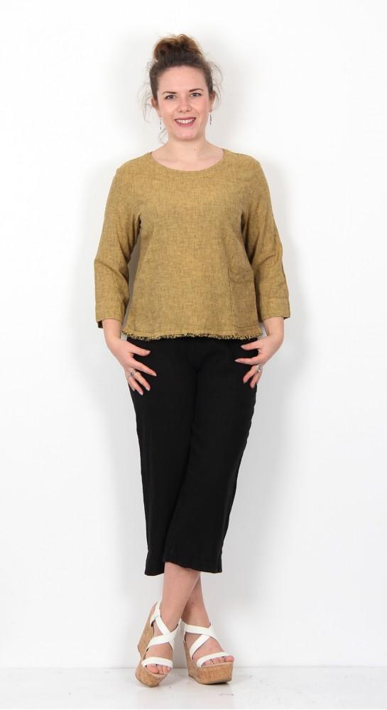 Cut Loose Clothing 3/4 Sleeve Top Marigold