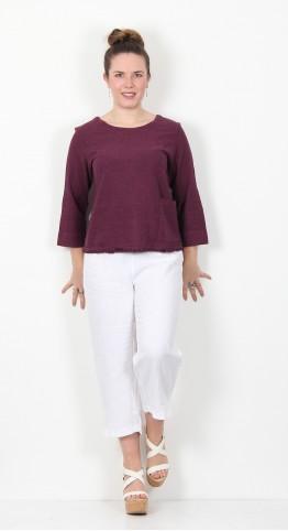 Cut Loose Clothing 3/4 Sleeve Top Vino