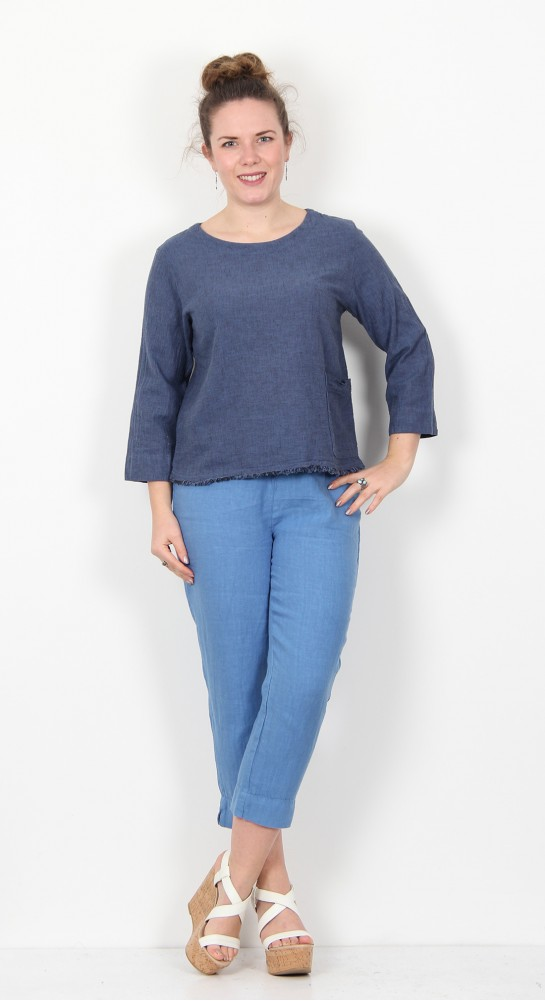 Cut Loose Clothing 3/4 Sleeve Top Space