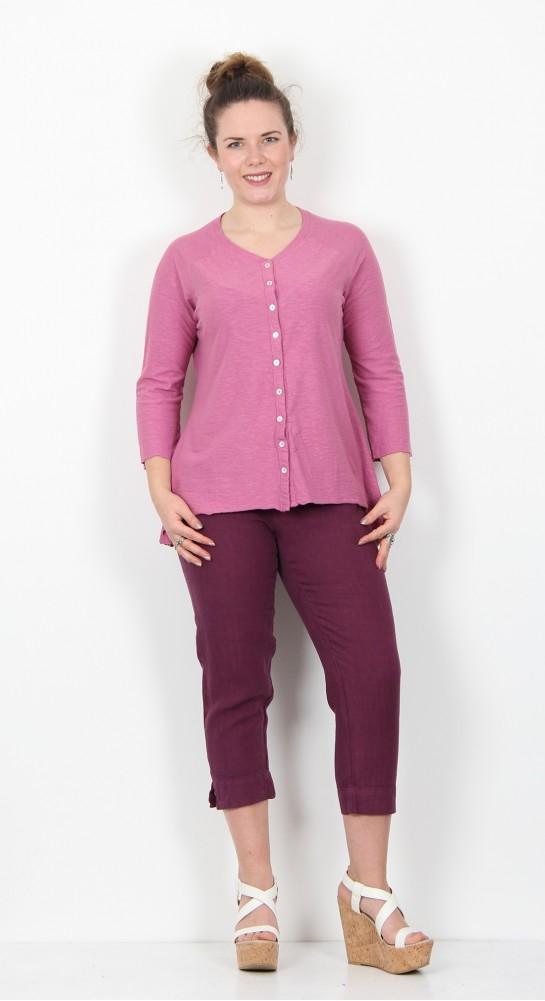 Cut Loose Clothing Jersey Cardi Rosewood