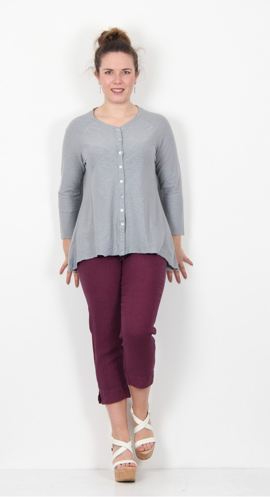 Cut Loose Clothing Jersey Cardi Overcast
