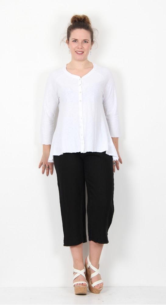 Cut Loose Clothing Jersey Cardi White
