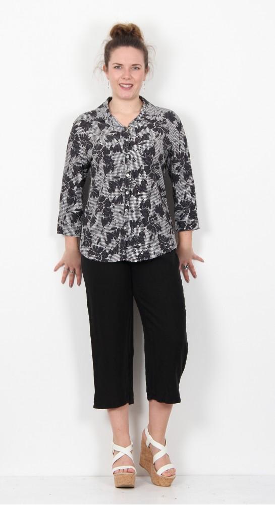Cut Loose Clothing Floral Gingham Shirt Iron
