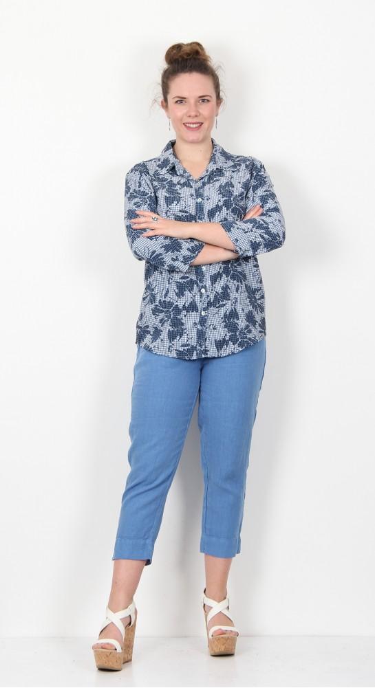 Cut Loose Clothing Floral Gingham Shirt Bay