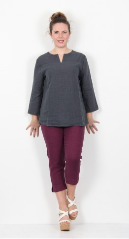 Cut Loose Clothing 3/4 Sleeve Pullover Shirt Iron