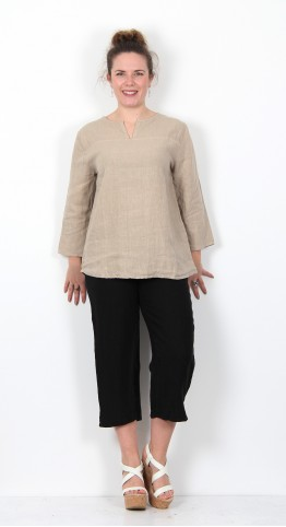 Cut Loose Clothing 3/4 Sleeve Pullover Shirt Jute