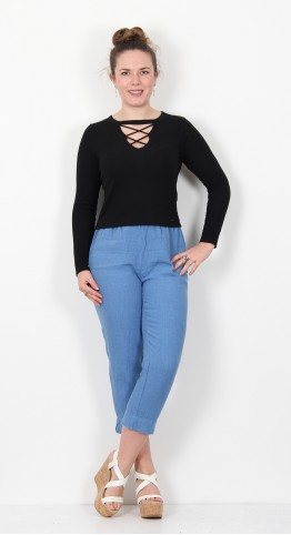 Cut Loose Clothing Tapered Crop Pant Bay