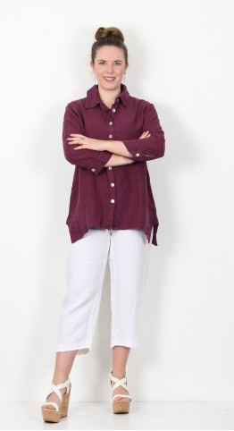 Cut Loose Clothing 3/4 Sleeve Shirt Vino