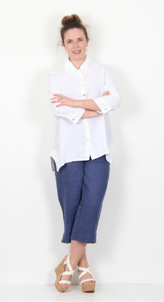 Cut Loose Clothing 3/4 Sleeve Shirt White