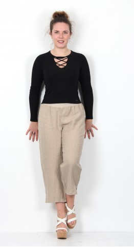 Cut Loose Clothing Capri Pants Jute