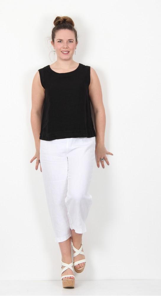 Cut Loose Clothing Linen Shell Black