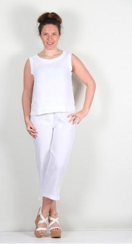 Cut Loose Clothing Soft Top Capri Pants Bright White