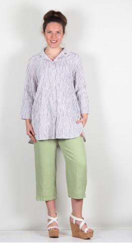 Cut Loose Clothing Crinkle Stripe Shirt White