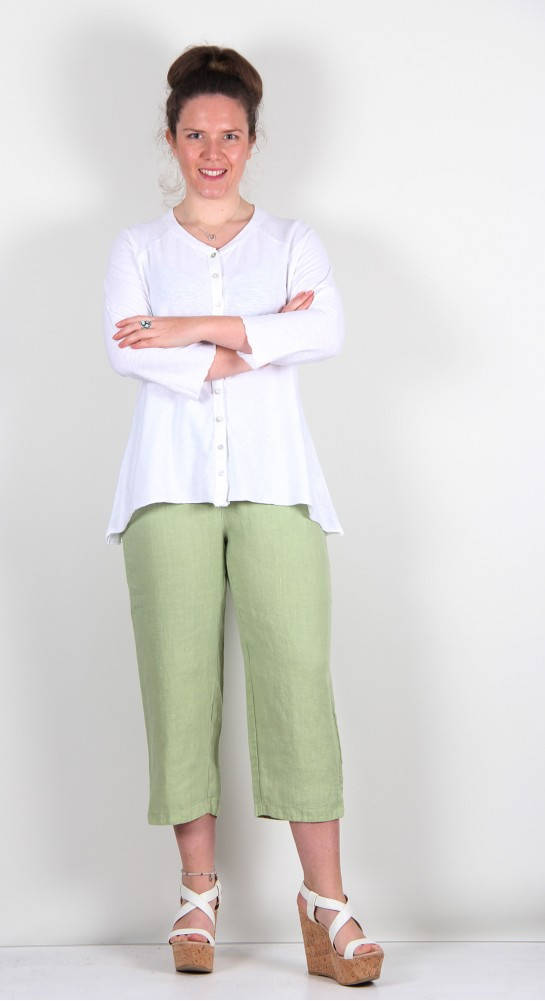 Cut Loose Clothing Jersey Cardi Bright White