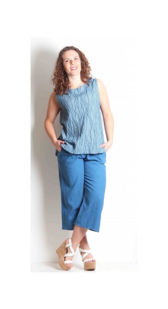 Cut Loose Clothing Blouse Crinkle Check Fiji