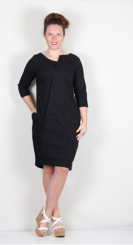 Elsewhere Fay Peplum Dress Black