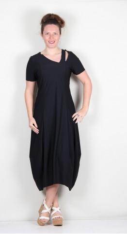Elsewhere Marie Bubble Dress Black