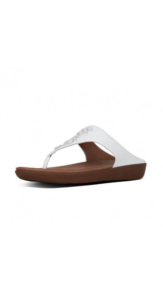 Fitflop Banda Crystal Leather ToeThong Sandals