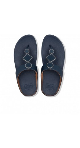 Fitflop LEIA Toe-Post Sandals Midnight Navy