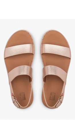 Fitflop BARRA Leather Back-Strap Sandals Rose Gold