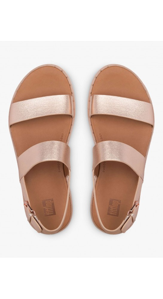 Fitflop BARRA Leather Back-Strap Sandals Rose Gold