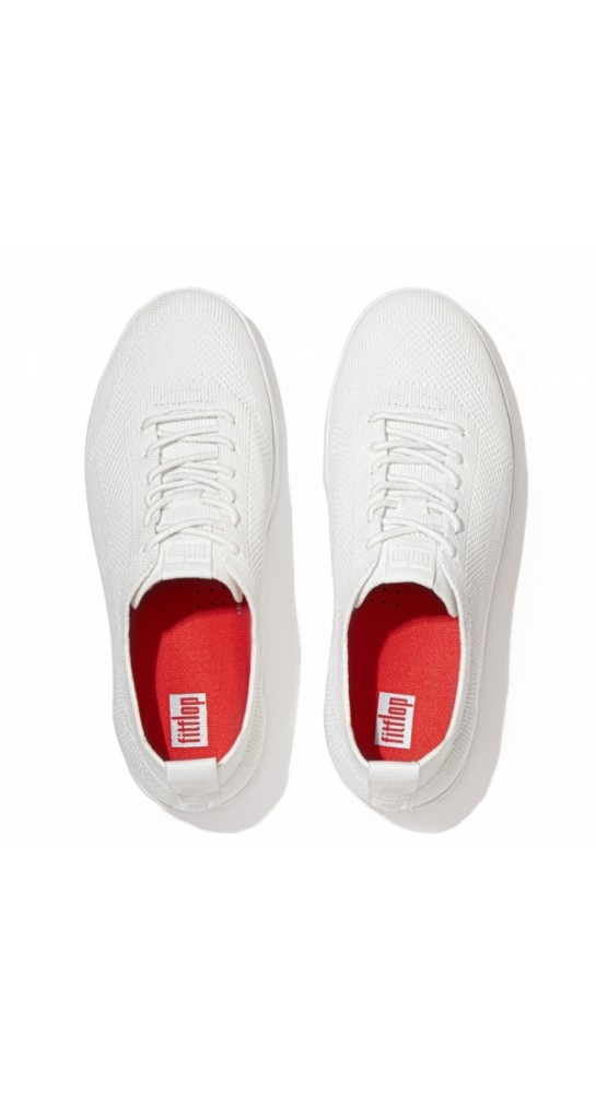 Fitflop RALLY Airyknit Trainers Urban White