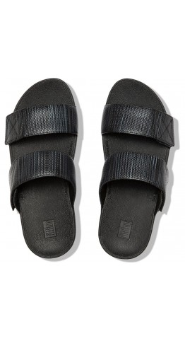 Fitflop Mina Textured Glitz Slide Black