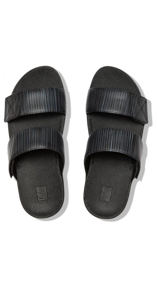 Fitflop Mina Textured Glitz Slide Black