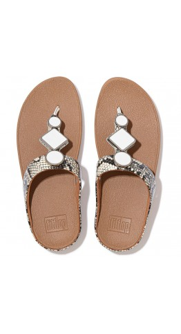 Fitflop LEIA Toe-Post Sandals Urban White/Snake