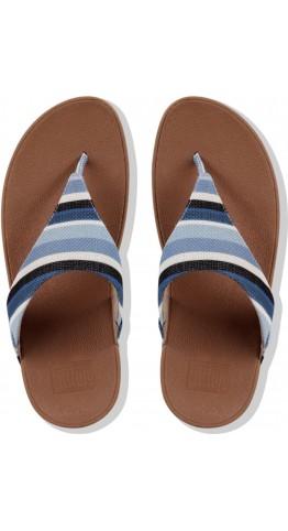 Fitflop Lulu Toe Thong Canvas Stripe Blue