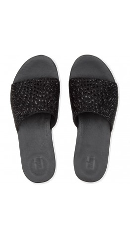 Fitflop Sola Crystalled Slide Black