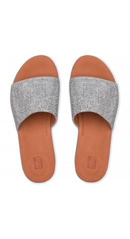 Fitflop Sola Crystalled Slide Silver