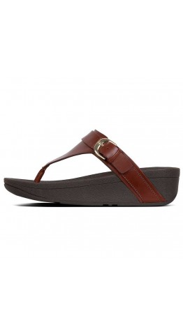 Fitflop Edit Toe-Thong Sandal Cognac
