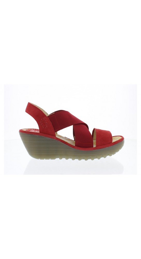 FLY LONDON YAJI Sandal Lipstick Red