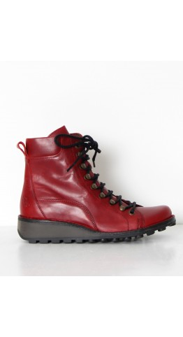 FLY LONDON Malu 001 Boot Red Leather