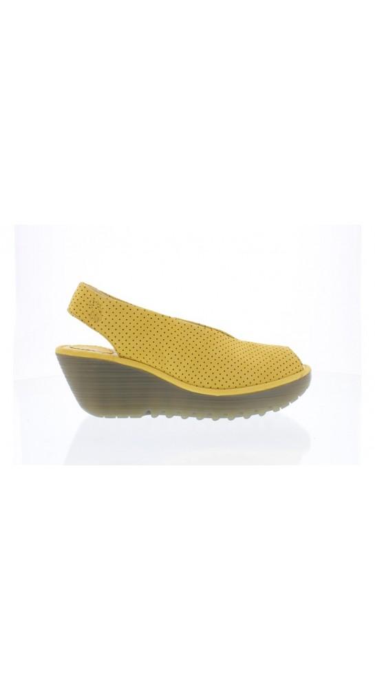 FLY LONDON YAZU736FLY Wedge Heel Sandal Bumblebee