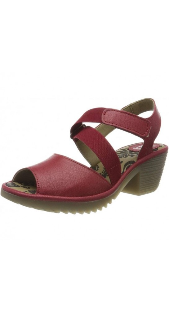 FLY LONDON WUNI135FLY Strappy Sandal Lipstick Red
