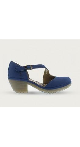 FLY LONDON WAKO144FLY Velcro Buckle Closed Toe Sandal Blue