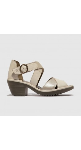 FLY LONDON WAID299FLY Strappy Sandal Off White/Silver