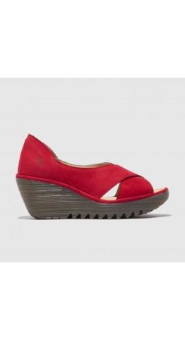 FLY LONDON YOMA307FLY Wedge Heel Sandal Lipstick