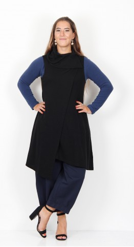 Foil All Adrift Layer Merino Tunic Black