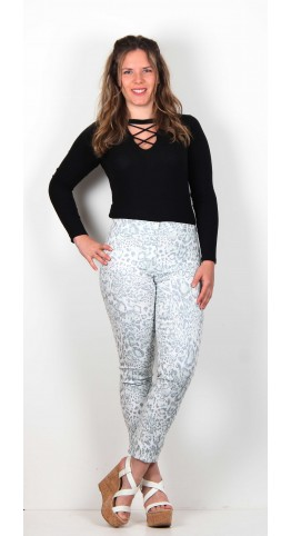 Robell Rose Trouser Animal Print